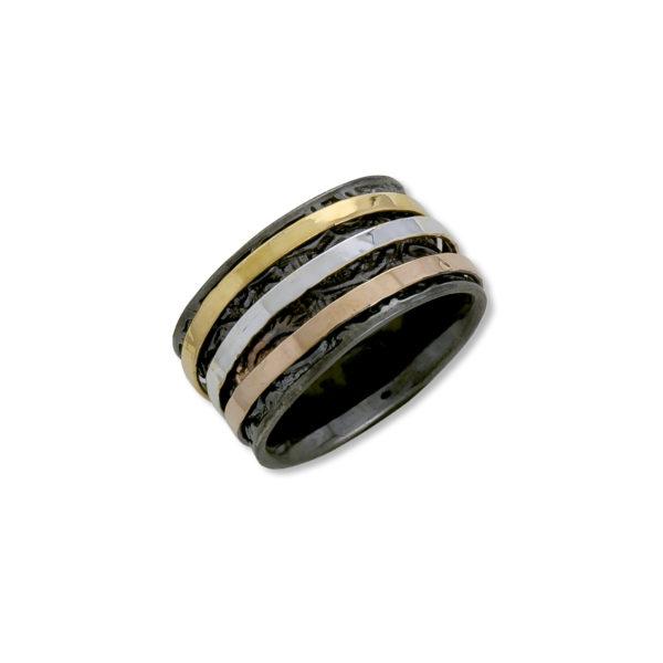 Oxidized Silver 925, handmade ring.