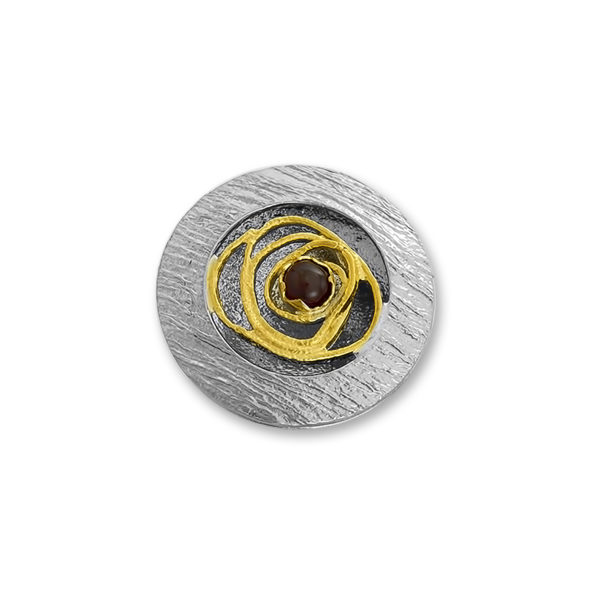 Silver 925, handmade ring with Garnet stone.