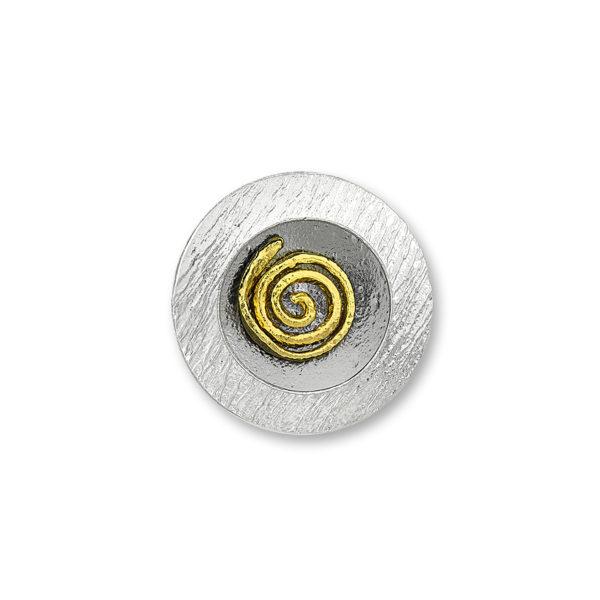 Silver 925, handmade Greek spiral ring.