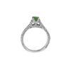 18K White Gold, handmade, Diamonds and Emerald ring.