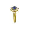 18K Gold, handmade, Diamond and Emerald rosette ring.