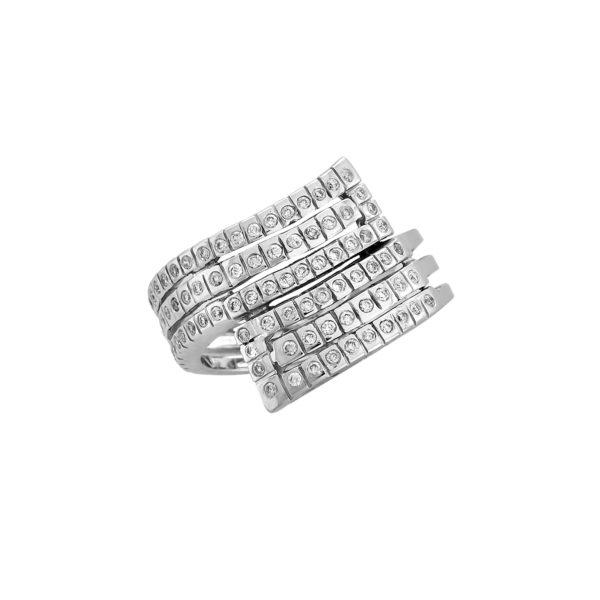 18K White Gold, handmade, Diamonds ring.