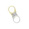 18K White and Yellow Gold reversible, diamond Greek key design flip ring.