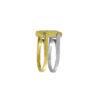 14K Gold reversible with Greek key design flip ring.