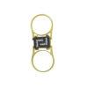 18K Gold reversible, black & white diamonds Greek key design flip ring.