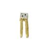 18K Gold reversible, white diamond Greek key design flip ring.