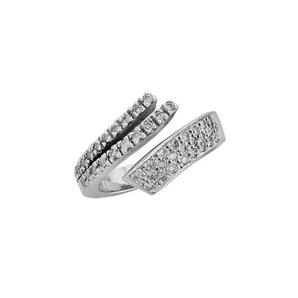 18K White Gold, handmade, Diamond ring.
