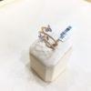18K Rose Gold, handmade, Diamond ring.