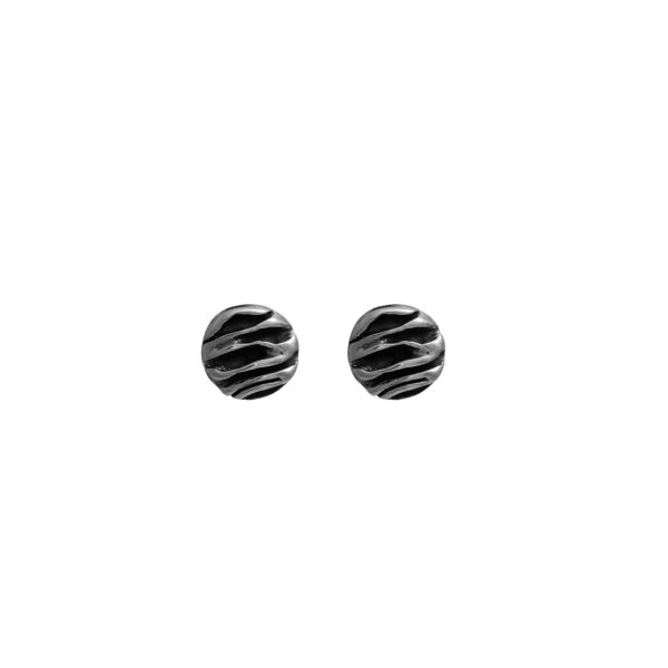 Silver 925, handmade stud earrings.