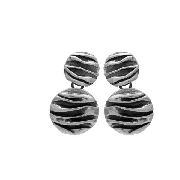 Oxidized silver 925, handmade earrings.