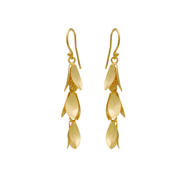 Silver 925, gold-plated, handmade earrings.