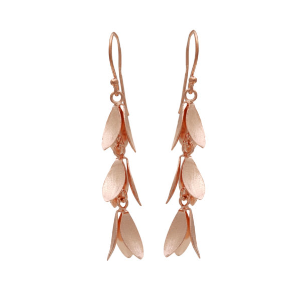 Silver 925, gold-plated, handmade earrings.
