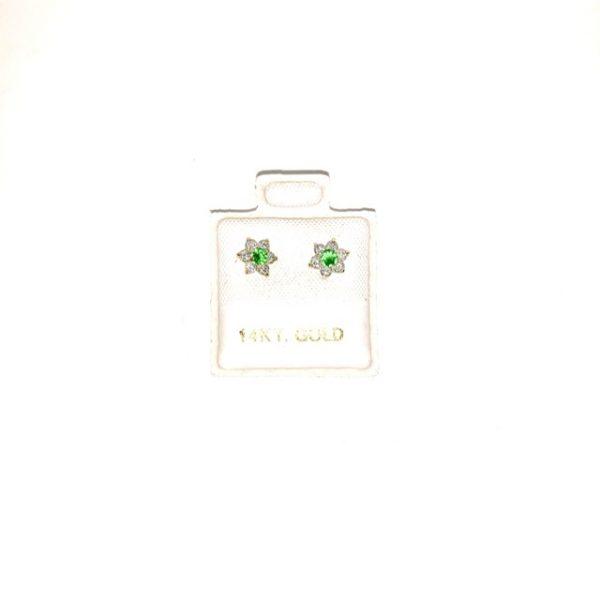 14K Gold Zircon stud earrings.