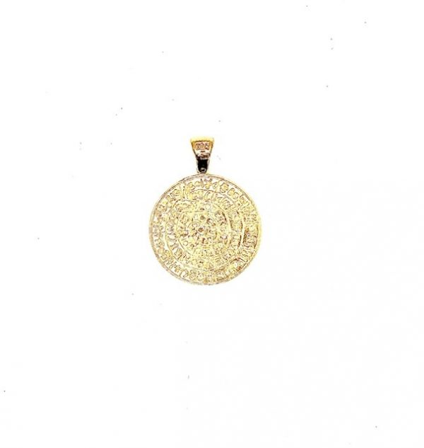 Silver 925, Gold-Plated Phaistos Disk pendant.