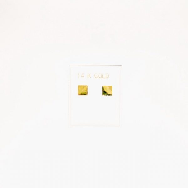 14K Gold stud earrings