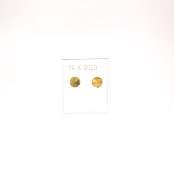 14K Gold stud earrings.