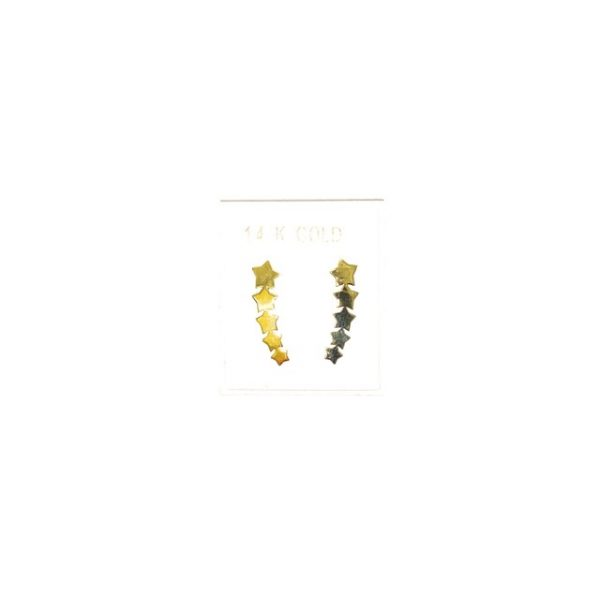 14K Gold modern stud earrings.